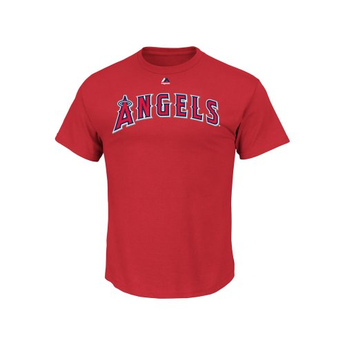 Mike Trout Los Angeles Angels Red Youth Jersey Name and Numb