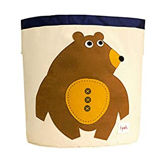 3 Sprouts Laundry and Toy Basket Canvas Storage Bin  for Baby and Kids, Monkey