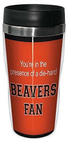 Tree-Free Greetings sg24530 Beavers College Football Fan Sip 'N Go Stainless Steel Lined Travel Tumbler, 16-Ounce by Tree-Free Greetings