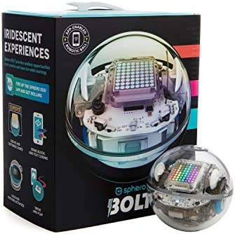 Sphero BOLT: App-Enabled Robot Ball with Programmable Sensors + LED Matrix, Infrared & Compass – STEM Educational Toy for Kids – Learn JavaScript, Scratch & Swift
