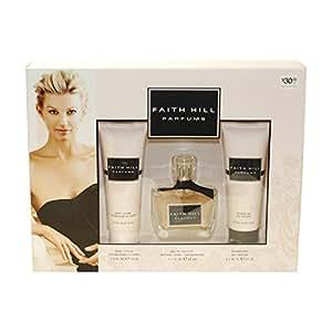Faith Hill Parfums Gift Set for Women (Eau De Toilette Spray, Lotion, Shower Gel)