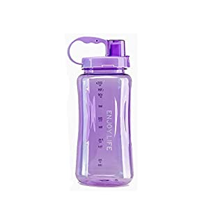 GTI 2L Large Capacity Outdoor Space Cup Plastic Sports Queen Wide Mouth Water Bottle Purple