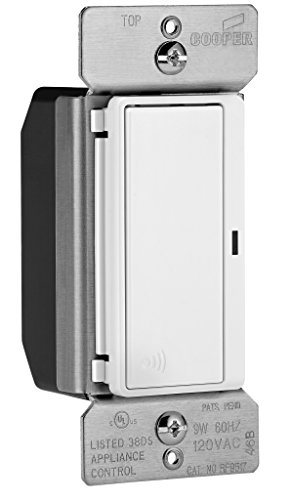 EATON Wiring RF9517WS ASPIRE RF Accessory Switch for RF9501 Wireless Light Switches, White Satin Finish