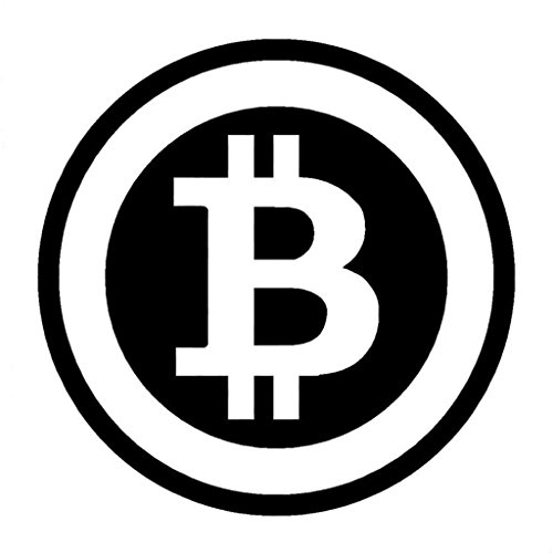 CCI Bitcoin Decal Vinyl Sticker|Cars Trucks Vans Walls Laptop| Black |5.5 x 5.5 in|CCI1484