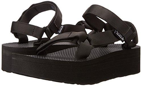 Teva Women's Flatform Universal Platform Sandal, Black, 11 M US