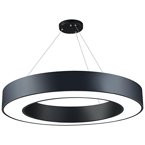 NWMTFRestaurant Chandelier, Circular Chandelier, Modern Minimalist Acrylic Engineering Lighting,Black 508