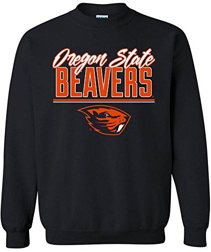 NCAA Oregon State Beavers Adult NCAA Script Crewneck Sweatshirt,Medium,Black