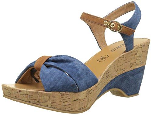Les P'tites Bombes Women's Folk Open Toe Sandals Blue (Bleu Bleu) UUibk