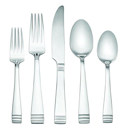 Hampton Forge 183Z045WBB Mercer Dinner Set, Silver