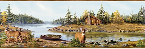Brewster Home Fashions Outdoors Cabin Creek Portrait 15' x 8