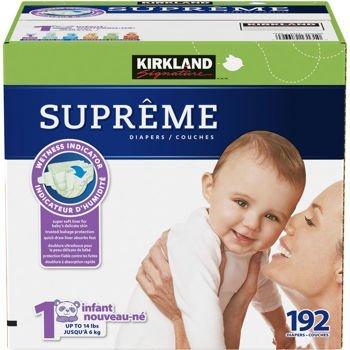 Kirkland SignatureTM Supreme Diapers Size 1; Quantity: 192