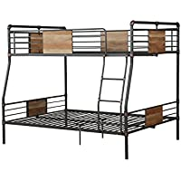 ACME Furniture 37725 Brantley Bunk Bed, Sandy Black and Dark Bronze Hand-Brushed, Full X-Large over Queen
