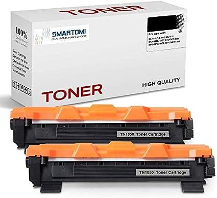 SMARTOMI - 2 Cartuchos de tóner Negro compatibles con Cartuchos TN1050 para impresoras Brother de Las Series HL-1110 HL-1112 HL-1212 HL-1210 DCP-1510 ...