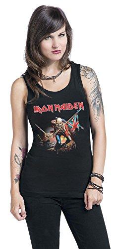 Iron Maiden Trooper Top Mujer Negro Negro