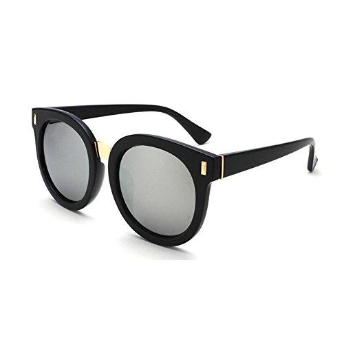 Espejo Oro sol Decoración Caja Solar Protección Protección 100 de Color UV Hombres Anti Retro WYYY Grande Clásico gafas Gris Luz UVA Polarizada Sra fxzEw61q6
