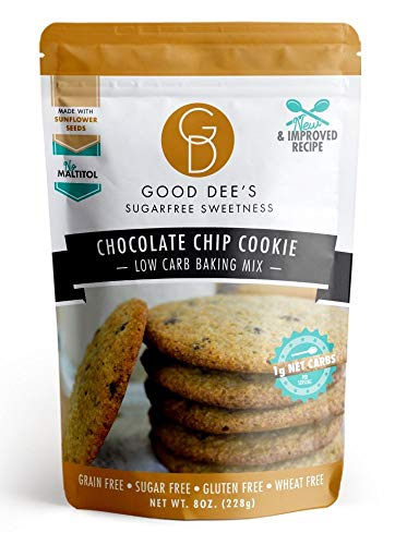 Good Dee's Chocolate Chip Cookie Mix - Low Carb, Keto Friendly, Diabetic Friendly, Sugar Free, Gluten Free