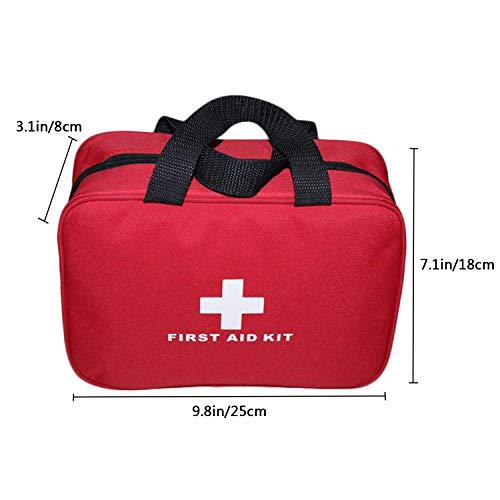 Kit vide de premiers soins en nylon Autoacc, sac de secours compact et léger pour les urgences à la maison, au bureau… 2