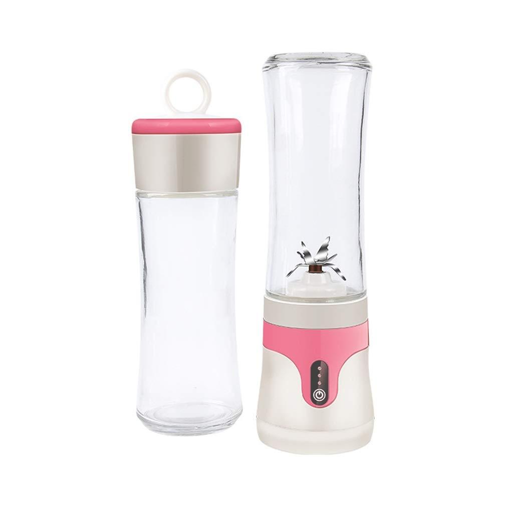 ジューサーポータブルジュースカップ家庭用小型食品機械真空ジュース機多機能ミキサー  Pink B07MXSZPFK