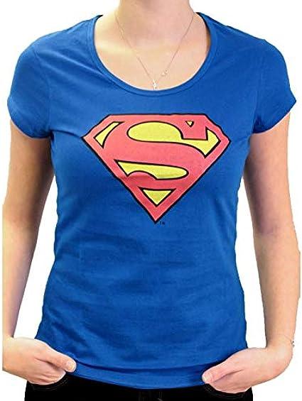 Camiseta Superman Mujer DC Comics – Symbol Logo Classic Cobalt Femme X-Large: Amazon.es: Ropa y accesorios