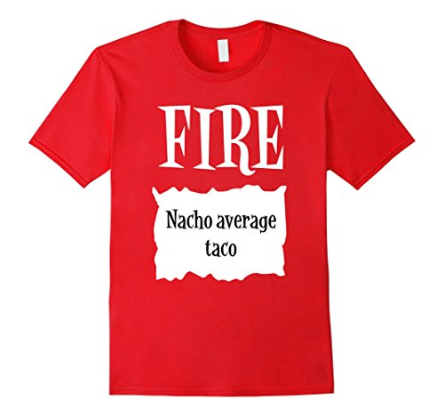 Mens Halloween Costume T Shirts - Fire Hot Sauce Packet Taco Tee 2XL Red