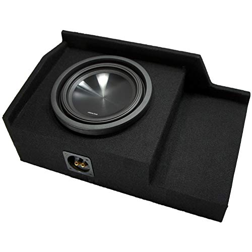 Compatible with 1999 2000 2001 2002 2003 2004 2005 2006 GMC Sierra Ext Cab Truck Alpine SWT-10S2 Car Audio Subwoofer Single 10″ Custom Sub Box Enclosure Package