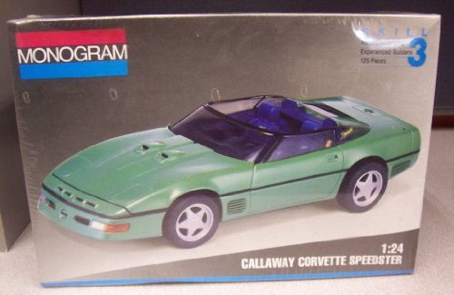 - Monogram #2958 Callaway Corvette Speedster 1/24 Scale Plastic Model Kit