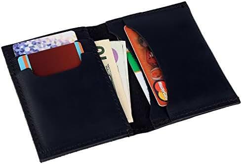 Rachiba Leather - Minimalist Slim Handmade Genuine Leather Wallet