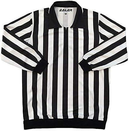 EALER HR100 Ice Hockey Long Sleeve Striped Referee//Umpire Jersey Shirt for Men