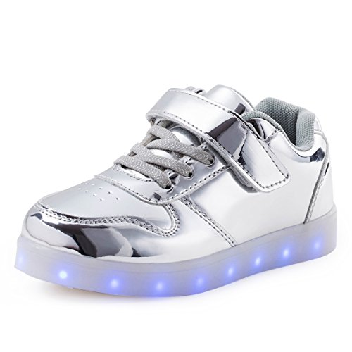 silver shoes for boys - 9