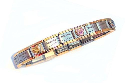 Special Sister Gold Edge Italian Charm Bracelet