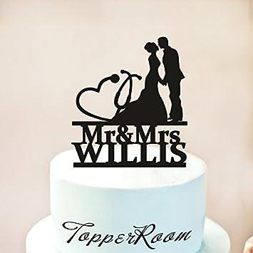 Physician Wedding Cake Topper Medical Doctor Wedding Cake Topper