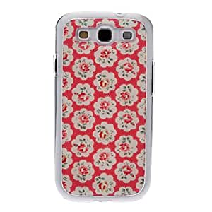 GHK - Pink Plum Blossom Drawing Pattern Neutral Stiffiness Silicone Gel Back Case Cover for Samsung Galaxy S3 I9300