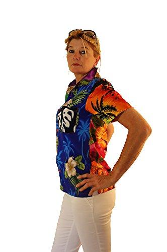 Original King Kameha | Funky Camisa Hawaiana Mujeres | XS-6XL | Manga Corta Bolsillo Delantero| impresión De Hawaii| Mondy |único Multicolor