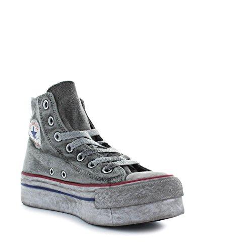 converse grises plataforma altas