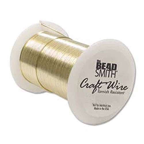 - 24 Gauge the Bead Smith Tarnish Resistant Craft Wire 30 Yards Gold