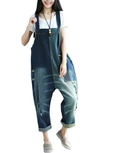 Buy womens bib overalls denim capri