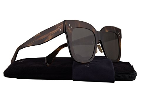 Celine CL41444/S Sunglasses Havana w/Grey Lens 51mm 07B2K CL41444S CL - Celine Square Aviators