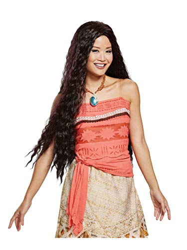 Disguise Women's Moana Deluxe Wig, Brown, One