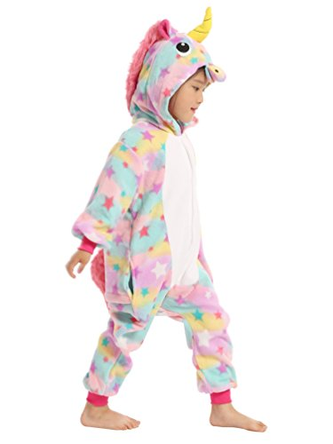 BELIFECOS Pink Star children Unicorn Cosplay Costume Onesie Pajamas For Boy 105 by BELIFECOS (Image #2)