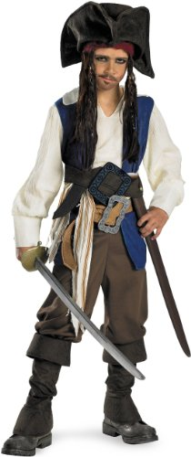 Captain Jack Sparrow Deluxe Child Costume - Small (4-6) (Captain Jack Sparrow Child Deluxe Costume)