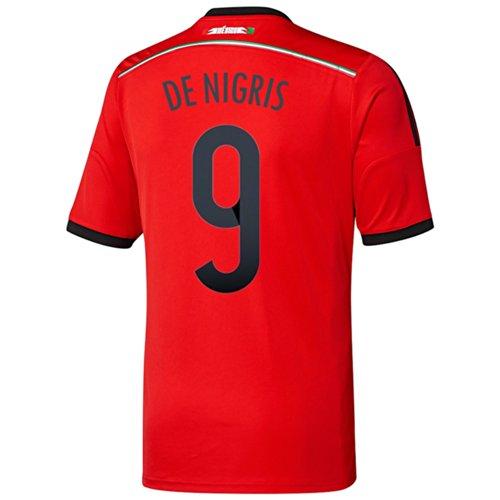 無礼に例沼地Adidas DE NIGRIS #9 Mexico Away Jersey World Cup 2014/サッカーユニフォーム メキシコ アウェイ用 ワールドカップ2014 背番号9 デ?ニグリス