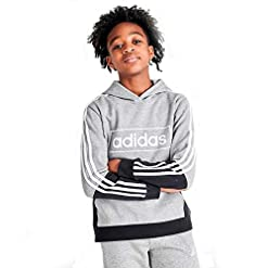 adidas Boys' Colorblock Pullover Sweatshirt