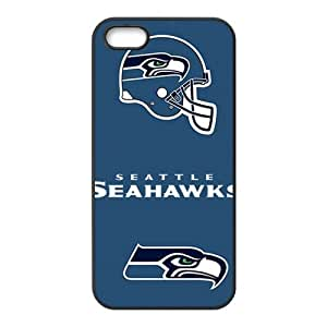 Seattle Seahawks Design Solid Rubber Customized Cover Case for iPhone 5 5s 5s-linda900