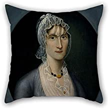 Oil Painting Joshua Johnson - Portrait Of Mrs. Barbara Baker Murphy (Wife Of Sea Captain) Pillowcase Best For Kitchen Lover Christmas Car Drawing Room Home 18 X 18 Inches / 45 By 45 Cm(two Sides)