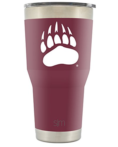Simple Modern University of Montana 30oz Cruiser Tumbler - Vacuum Insulated Stainless Steel Travel Mug - UM Grizzlies Tailgating Cup College Flask ()