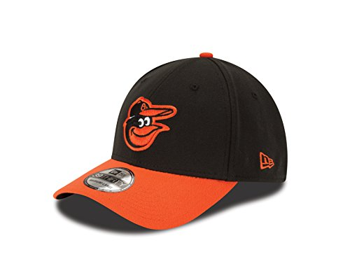 New Era MLB Baltimore Orioles Junior Team Classic Road 39Thirty Stretch Fit Cap, Black, Child/Youth
