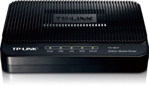 (TP-LINK TD-8817 ADSL2+ Modem, 1 RJ45, 1 USB Port, Bridge Mode, NAT Router, Annex A, ADSL Splitter, 24Mbps Downstream)