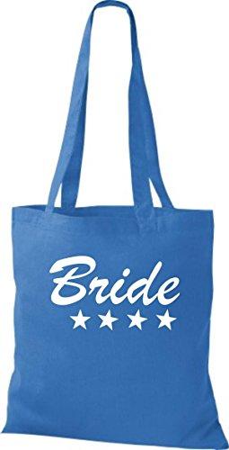 Shirtstown Stoffbeutel JGA Bride Braut viele Farben royal