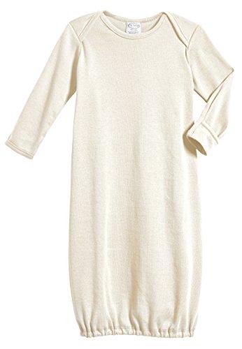 City Threads Certified Organic Baby Sleeping Bag Sack Gown Sleepsack Long Sleeve, Oatmeal, 3/6M