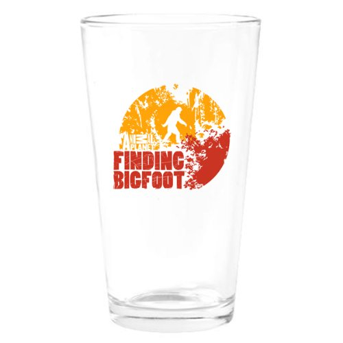 Finding Bigfoot Circle Drinking Glass
